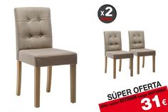 2 sillas salón SITRAN Beige 31€ /u. Spanish Apartment, Color Beige, Dining Chairs, Furniture, Home Decor, Salon Chairs, Upholstered Chairs, Painted Wood, Timber Frames