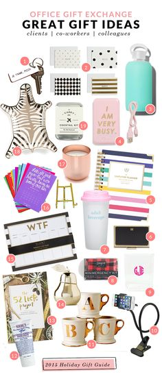 Great Gift Ideas for Co-workers, Clients & Colleagues (most of these options are under $30)