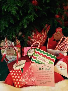 RACK- Random Acts of Christmas Kindness - Over 30 RACK ideas, free printable cards and candy cane tags.