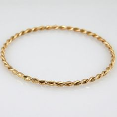 Items similar to Sexy vintage, yellow gold twisted bangle on Etsy Vintage Jewelry, Unique Jewelry, Bangles, Bracelets, Unique Vintage, Solid Gold, My Etsy Shop, Jewellery, Trending Outfits