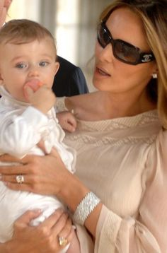 Ultra chic Melania Trump modelling her line of custom jewelry   so up town GAL !    cutest son Barron, look at this baby face!    Beautiful...