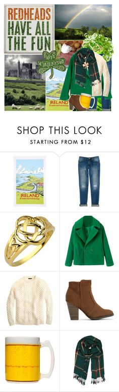 """""""Happy St. Patrick's Day! :)"""" by fashionistajane1 ❤ liked on Polyvore featuring Ulster Weavers, Rebecca Minkoff, J.Crew and Humble Chic"""