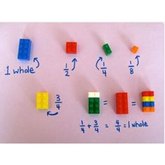 A brilliant way to teach kids fractions. So many children (and adults for that matter) struggle with fractions. Here is an easy way to teach fractions using LEGO! Learning Tips, Teaching Tools, Teaching Math, Kids Learning, Visual Learning, Learning Games, Teaching Plan, Math Teacher, Teaching Resources