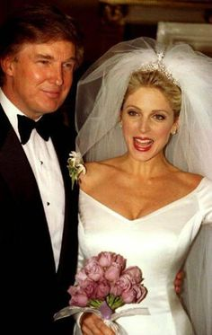 "Donald Trump and Marla Maples The Donald married second wife Marla Maples, a former showgirl, in the Grand Ballroom of the Plaza Hotel in New York on December 20th 1993. Said the Associated Press the next day: ""The hype surrounding the event was trademark Trump: Fancy hotel. Six-foot cake. A bridal diamond tiara supposedly worth $2 million."" The couple divorced in 1997."
