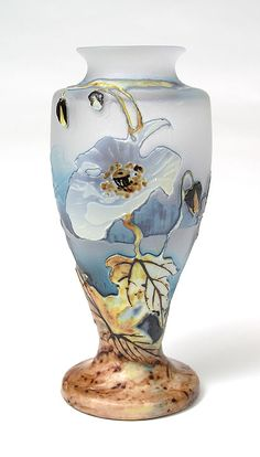 "Muller, Vase. Technique called ""Fluorogravure"""