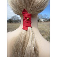 Ponytail Holder Beaded Hair Tie Red Leather Wrap Pony Tail Cuff... (475 UAH) ❤ liked on Polyvore featuring accessories, hair accessories, black, ties & elastics, ponytail ties, beaded hair accessories, elastic hair ties, hair ties and red hair accessories