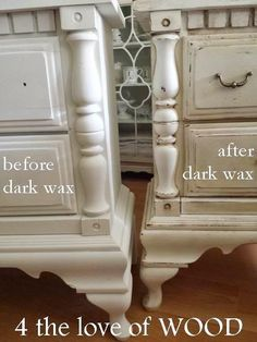 4 the love of wood: USING DARK WAX ON WHITE PAINT - video