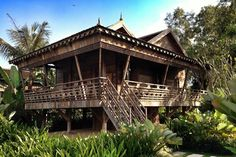 Rural khmer houses are a traditional house types of the khmer traditional khmer stilt house malvernweather Choice Image
