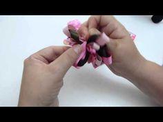 moños y flores en cinta para elaborar accesorios para el cabello video 268 - YouTube