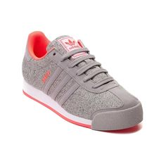 Womens adidas Samoa Athletic Shoe.... Got these! Love them! They come with hot coral-colored laces, too, although I've been wearing the gray. Seriously cute shoes, and I know from experience that adidas Samoas get better with age. I have a 20-year old pair (white with light blue accents) that I had recently gotten out and was wearing again...like a lot! So I figured I ought to look into a new pair and discovered adidas still makes a version of the same shoe! Found these and I'm loving them!
