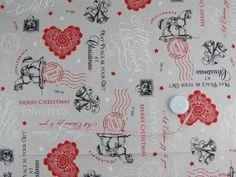 Tkanina dekoracyjna świąteczna - Pocztówka 200