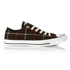 Preppy hipster...my style in a show / Converse Shoes - Converse All Star Winter Plaid OX Shoes - Black/Plaid