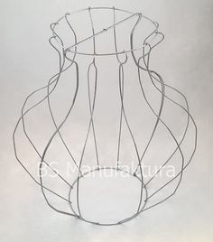Topiary metal wire frame VASE 70cm