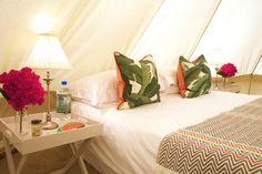 Gold luxury 5 meter Bell Tent. Interior Design. Branding.