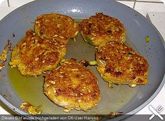 Kartoffel-Möhren-rote Linsen-Bratlinge