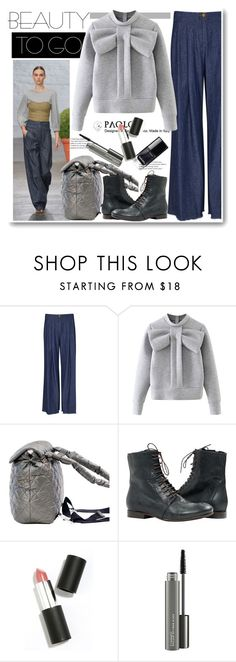 """""""Beauty on the Go and PaoloShoes"""" by paoloshoes ❤ liked on Polyvore featuring beauty, Raquel Allegra, WithChic, Sigma and MAC Cosmetics"""