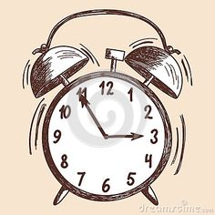 Alarm Clock Sketch - Download From Over 29 Million High Quality Stock Photos, Images, Vectors. Sign up for FREE today. Image: 42107371