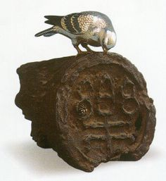 SHOAMI Katsuyoshi  古瓦鳩香炉  明治