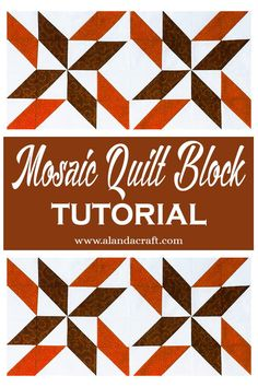 The Mosaic Pinwheel quilt block is easy to make. A lovely quilting block pattern for your quilting projects. Our tutorial shows you how easy it is to make Quilt Blocks Easy, Quilt Block Patterns, Easy Quilts, Pattern Blocks, Quilting For Beginners, Quilting Tutorials, Quilting Projects, Disappearing Four Patch, Diy And Crafts Sewing