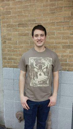 Men's T-shirt mocha- Short sleeve - spring style fashion @ Black Bear Trading Asheville N.C.