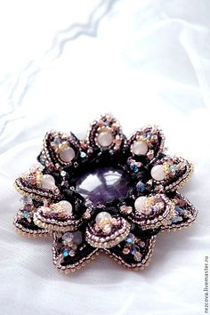 Loving this brooch. Found on Etsy by BeadedNatureJewelry