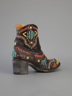 MEXICANA - Whipsticthed cowboy boot