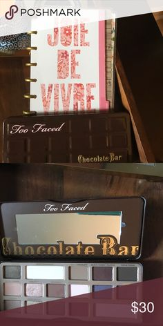 TooFaced Chocolate Bar Palette LIKE NEW! Beautiful TooFaced Palette. Used once! Excellent condition. Too Faced Makeup Eyeshadow