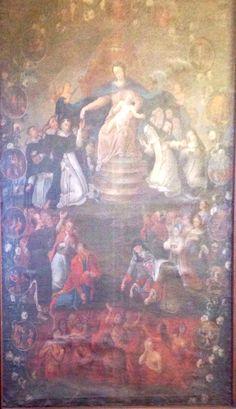 saint Dominique et sainte Catherine autour de la vierge, couvent saint Hyacinthe à Cracovie