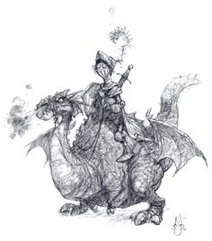 Spectrum Dragon Illustration drawing sketch by Peter de Sève Fantasy Dragon, Dragon Art, Fantasy Art, Dragon Illustration, Children's Book Illustration, Character Concept, Concept Art, 3d Character, Academic Drawing