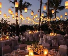 #gorgeous #candlelight #lanterns #reception #outdoorwedding