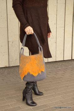 Felted handbag Natural softness от doseth на Etsy