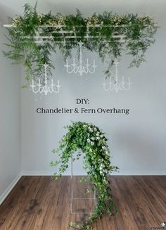 DIY Rustic Chandelier and Fern Overhang   Confetti.co.uk