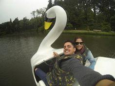 Pedalinho no lago Negro