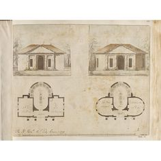 Architectural drawing - Dairy design for Lady Craven