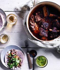 Australian Gourmet Traveller recipe for braised short-rib tacos.