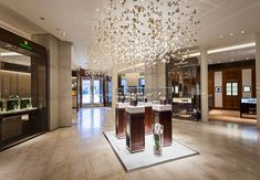 Bucherer luxury watches and jewellery store in Paris (shop-in-shop concept) featuring 23 major luxury brands Jewelry Store Design, Jewelry Shop, Jewelry Stores, Jewelry Rings, Jewelery, Jewellery Showroom, Jewellery Display, Luxury Store, Paris Shopping