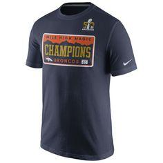 22869528c Denver Broncos Nike Super Bowl 50 Champions Celebration Local T-Shirt - Navy