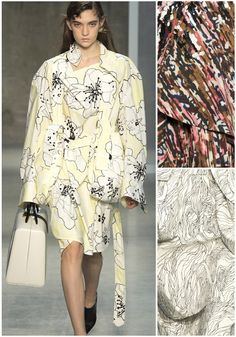 Patternbank are loving Marni's Spring/Summer 2017 Collection. Print highlights included, oversized linear florals, abstracted marks and delicate line work