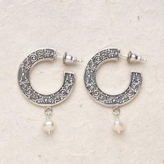 Bali Scroll Hoop Earring: Drop