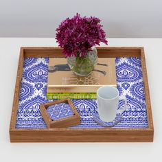 Aimee St Hill Decorative Blue Coaster Set | DENY Designs Home Accessories #DENYholiday #blackfridaysale #christmasgifts