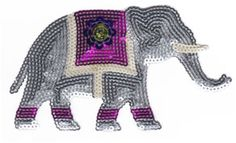 Sparkly Sequins Iron-ons - Medium - Elephant