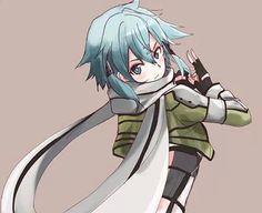 "[Shino Asada ""Sinon""] ~ Sword Art Online/Gun Gale Online Sinon Ggo, Kirito Asuna, Otaku Anime, Anime Art Girl, Manga Art, Vocaloid, Asada Shino, Sao Characters, Gun Gale Online"