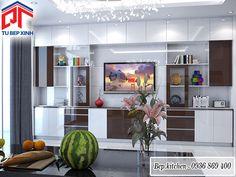 kệ tủ trang trí màu trắng nâu độc đáo kc233