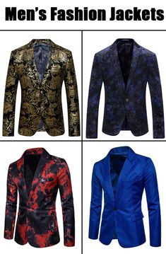 Men's fashionable jackets. Just be a handsome man with our floral printed men's jackets