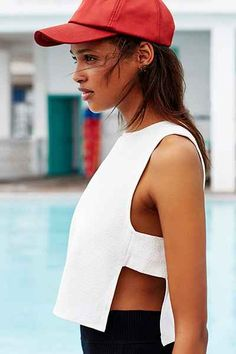 Silence + Noise Bar Shell Tank Top - Urban Outfitters