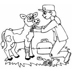 Veterinarian Coloring Page  Coloring For kids and Waiting rooms