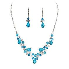 Aqua Blue Teardrop Accented Rhinestone Necklace Set Brida... https://www.amazon.com/dp/B019050GT0/ref=cm_sw_r_pi_dp_lg.vxbZMXKZ0X