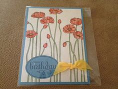 Happy Birthday Stampin' Up card made to order FREE SHIPPING on Etsy, $2.50