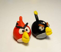How to make edible angry birds for a birthday cake, Sean's gonna love it!