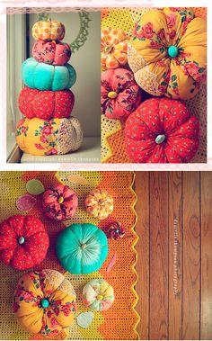 beautiful fabric pumpkins
